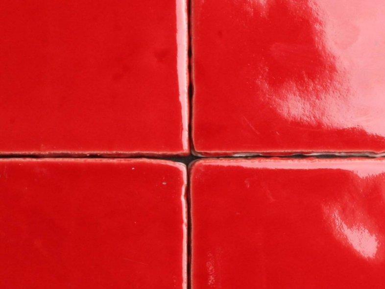 Handvorm 10x10 rode tegels tegelgemak - Rode metro tegel ...