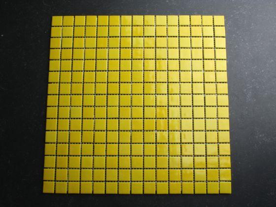 Glas Mozaiek Tegels : Glasmozaiek geel cm tegels tegelgemak