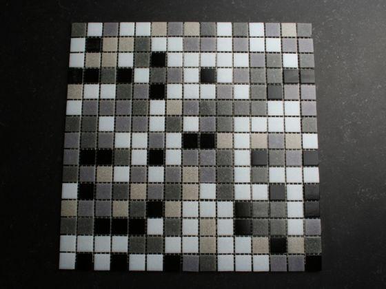 Mozaiek Tegels Keuken : Mozaïek tegels grijs mix structuur zwart mix tegelgemak