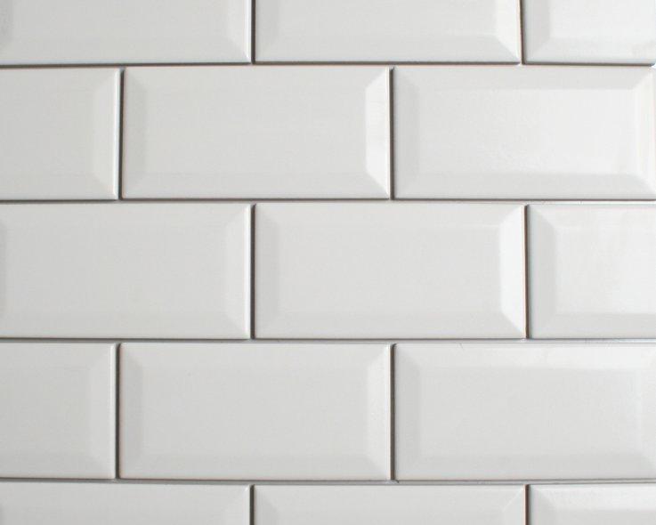 Metrotegel wit 7.5x15 cm glans - Tegelgemak